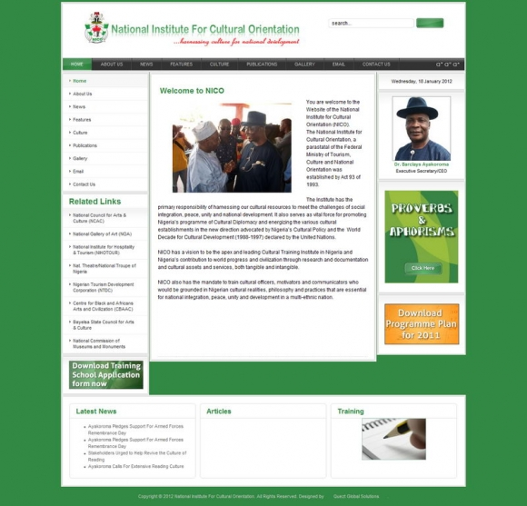 Official Website National Institute of National Orientation