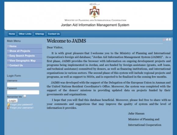 Jordan Aid Information Managment System