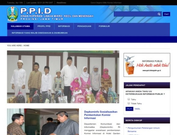 Information & Documentation Officer, Office of Cooperatives and SME, East Java Province