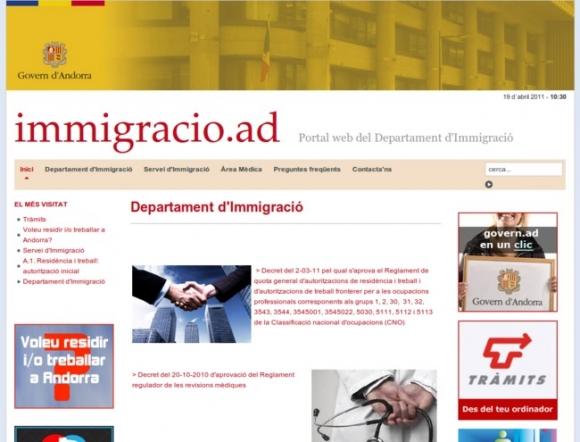 Department of Immigration - Andorra