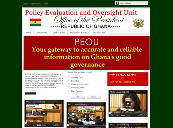 Policy Evaluation and Oversight Unit - Office Of the President - Republic of Ghana