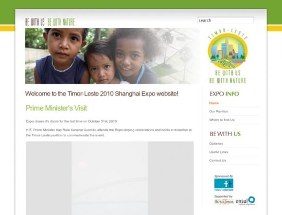 Timor-Leste 2010 Shanghai Expo website