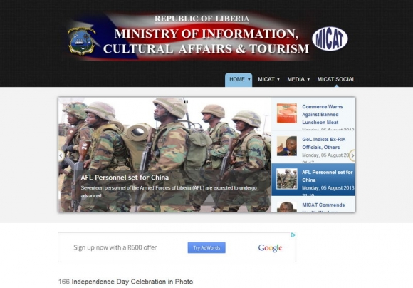 Ministry of Information Online Portal Liberia