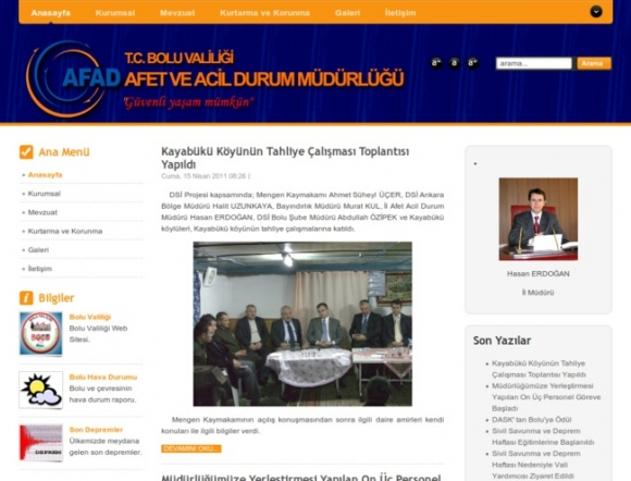Bolu Provincial Disaster and Emergency Management