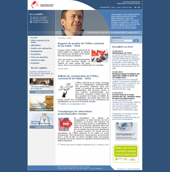 Disability insurance of Valais