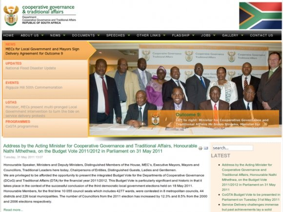 Department of Cooperative Governance and Traditional Affairs
