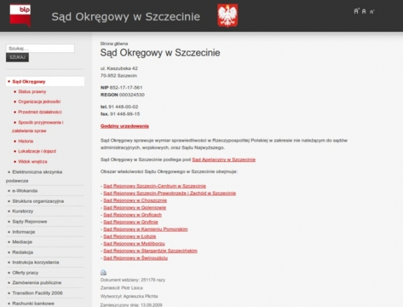 District Court in Szczecin