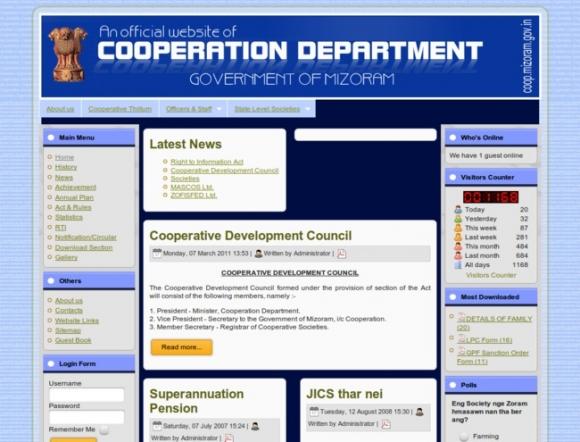 Government of Mizoram - Department of Cooperation
