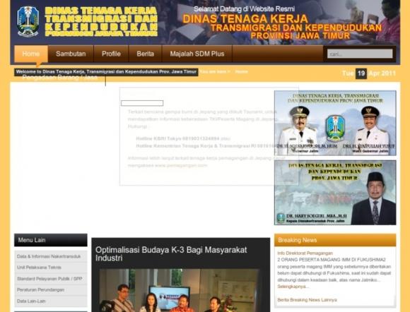 Office of Labour, Transmigration & Population, East Java Province