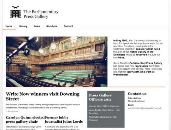 UK Parliamentary Press Gallery