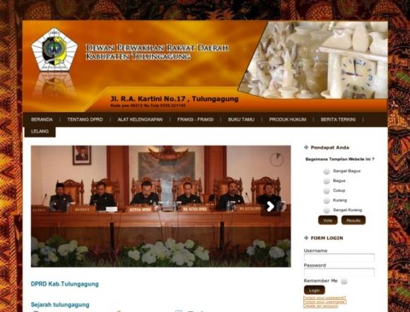 Regional House of Representatives, Tulungagung Regency of East Java Province