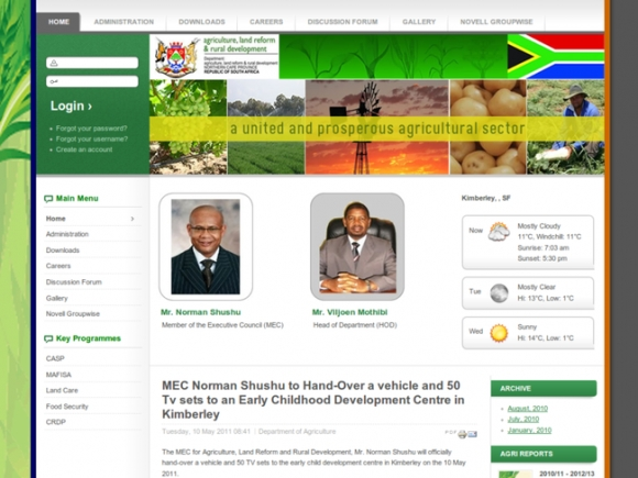 Northern Cape Department of Agriculture Land Reform and Rural Development