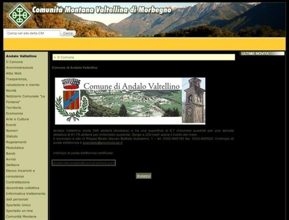 Comune di Andalo Valtellino