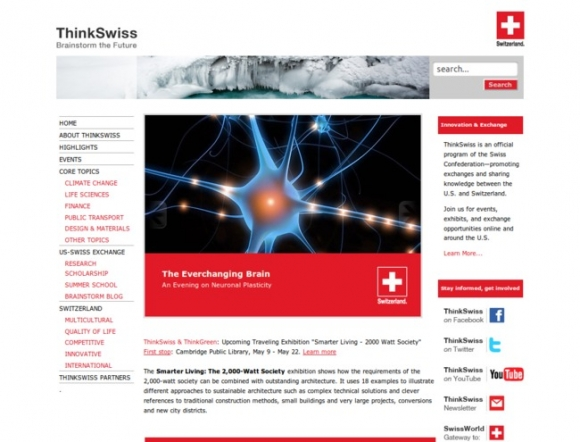 ThinkSwiss, An official program of the Swiss Confederation