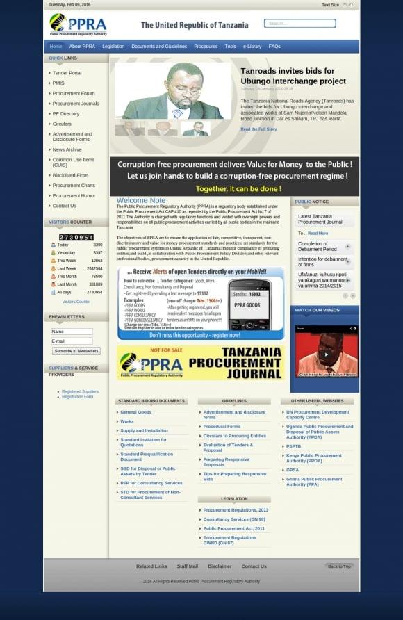The PPRA website