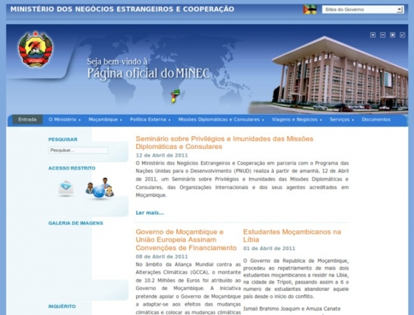 Ministry of Foreign Affairs and Cooperation - Mozambique
