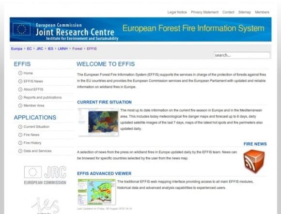 European Forest Fire Information System