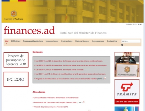 Ministry of Finance - Andorra