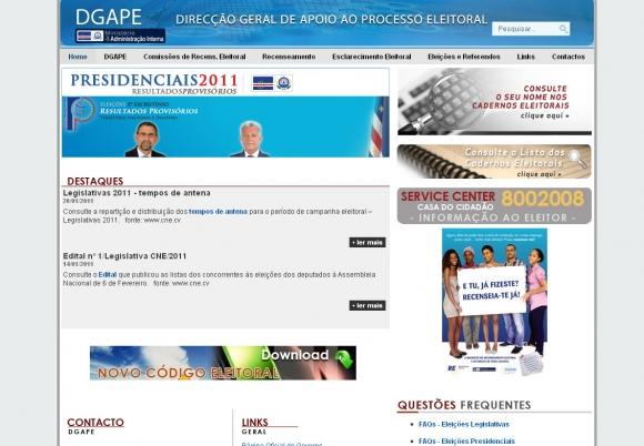 DGAPE - Direcção Geral de Apoio ao Processo Eleitoral