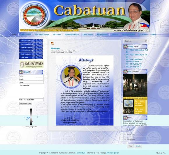 The Official Online Home of Cabatuan, Iloilo