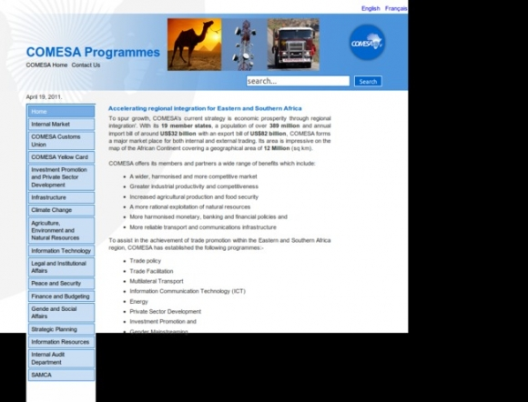 Common Market for Eastern and Southern Africa Programmes(COMESA)