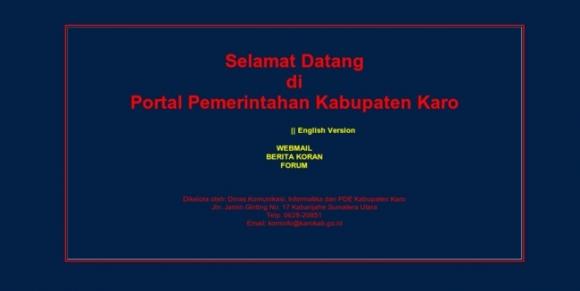 Karo Regency of North Sumatera Province