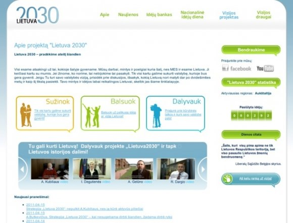"Government Project ""Lithuania 2030"""
