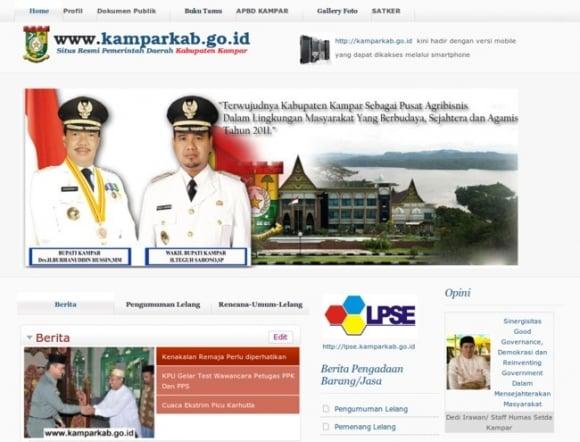 Kampar Regency of Riau Province