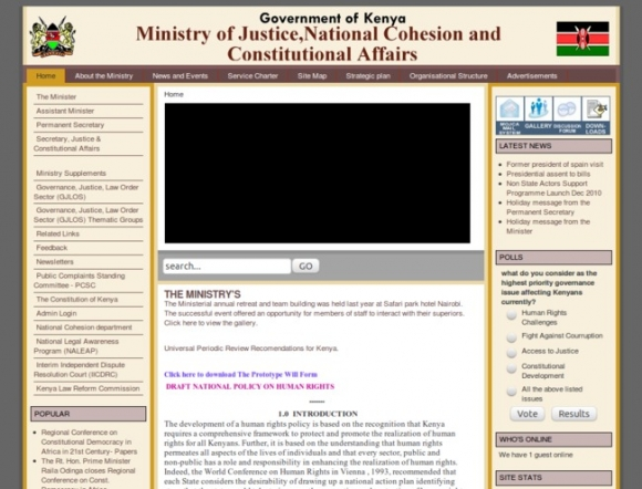 Ministry of Justice & Constitutional Affairs