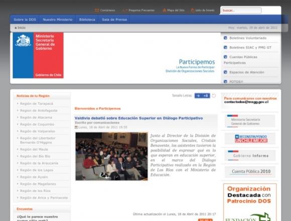 División de Organizaciones Sociales Participemos