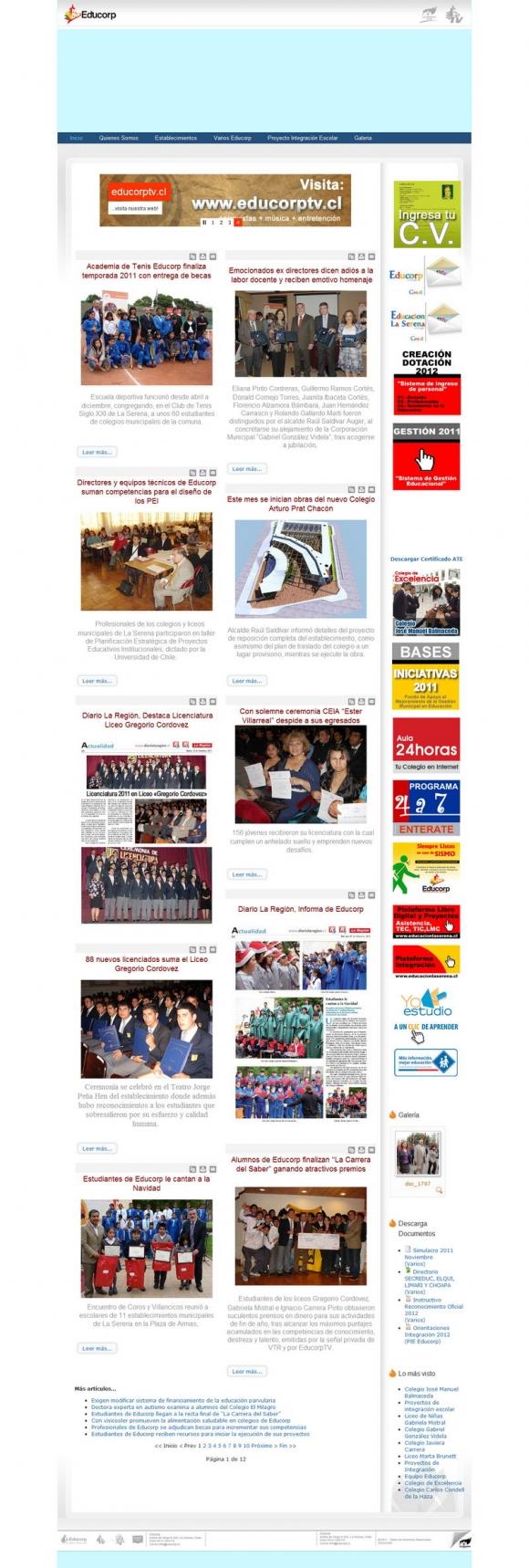EDUCORP, Una Nueva Educación, Departamento de Educación La Serena