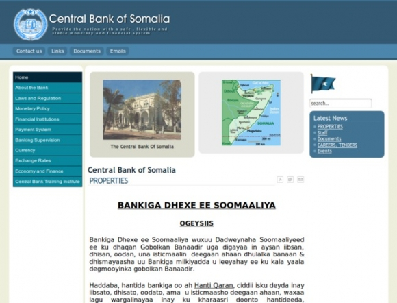 The Central Bank of Somalia