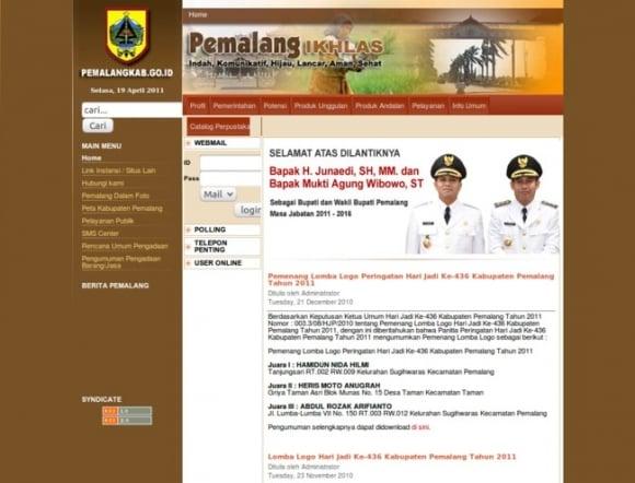 Pemalang Regency of Central Java Province