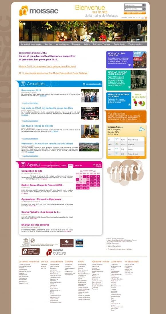 Site officiel de la mairie de Moissac
