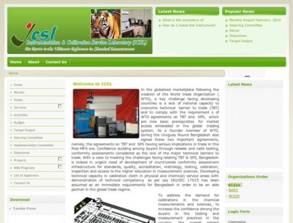 Instrumentation & Calibration Services Laboratory