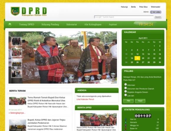 Regional House of Representatives, Rokan Hilir Regency of Riau Province