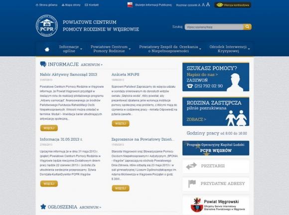 PCPR Węgrów - Powiatowe Centrum Pomocy Rodzinie w Węgrowie