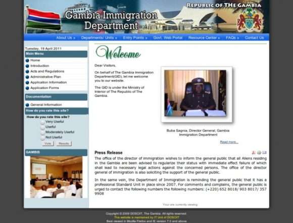 Gambia Immigration Department
