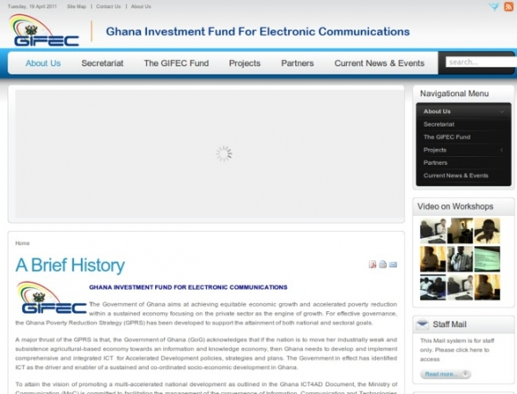 Ghana Investment Fund for Electronic Communication