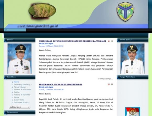 Batanghari Regency Of Jambi Province Explore Government Websites Built With Joomla