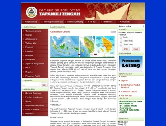 Simalungun Regency of North Sumatera Province
