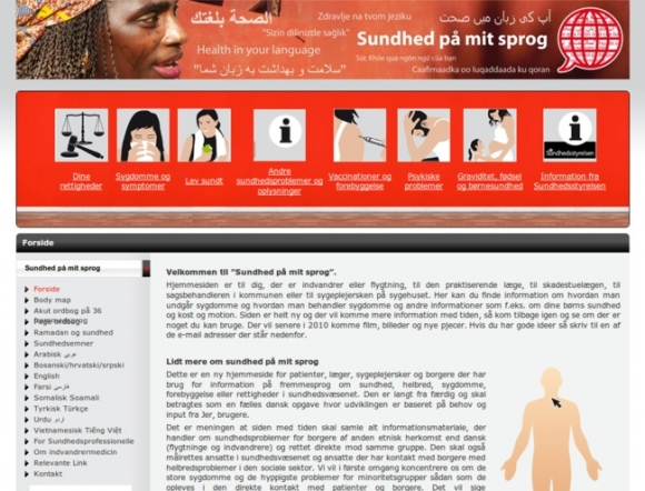 Health in your language, National Department of Health Odense University