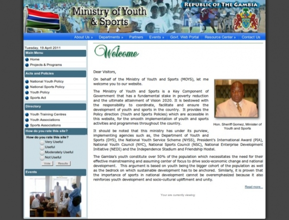 Ministry of Youth and Sports - Gambia