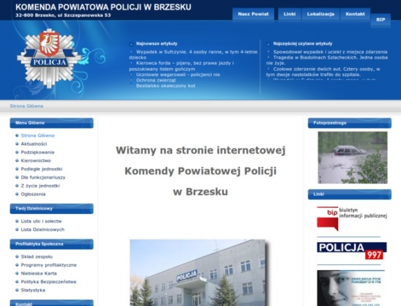 Police Headquarters in Brzesko