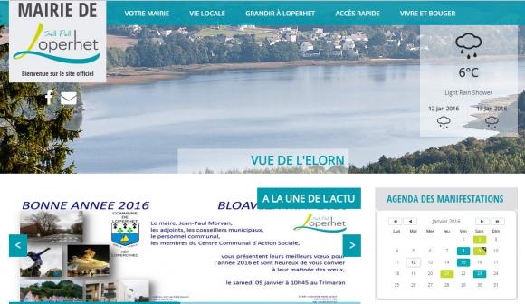Site officiel de la commune de Loperhet