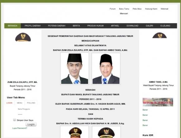 East Tanjung Jabung Regency of Jambi Province