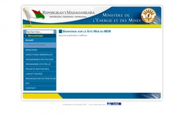 Ministère de L'Energie et des Mines